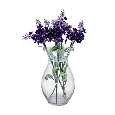 Home Decorative Small Clear Hydroponic Glass Hyacinth Flower Bud Vase