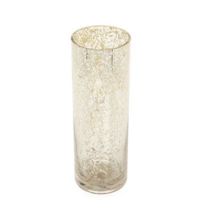 Elegant Expressions hand made 12IN H Mercury Glass Vase, Gold