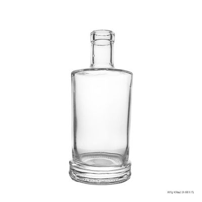 Fashion Design 50cm 500ml Glass Bottle Empty Rum Bottle Made In China