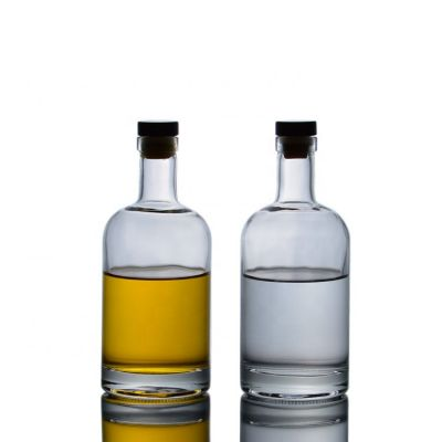 Hot selling top quality In stock 375ML vodka glass bottle with cork