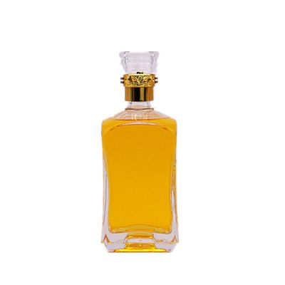 550ml square glass bottle for tequila with crown cap