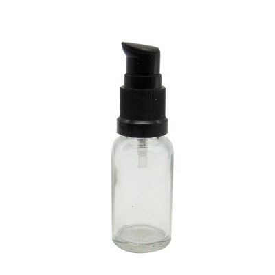 Wholesale 20ml Empty Round Clear Cosmetic Glass Bottles for Essential Oil Packaging