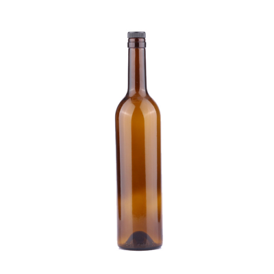 High quality empty 750ml amber burgundy bordeaux red wine glass bottle weight