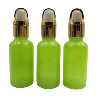 5-100 ml green glass bottle dropper bottle, cosmetics container empty high-grade