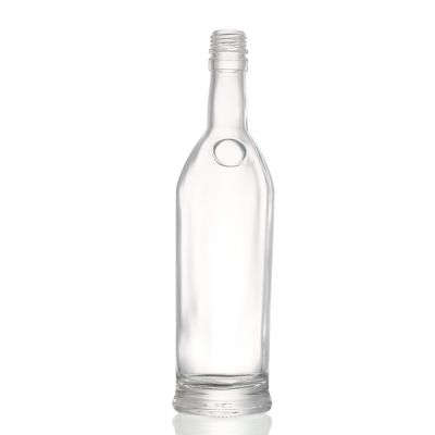 Super flint extra white clear round liquor 500 ml glass wine bottle with screw