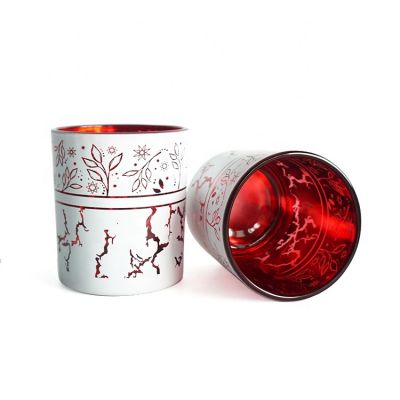 Unique Candle Jars Glass,Electroplated Laser Engraved Lantern Candle Holders For Holiday