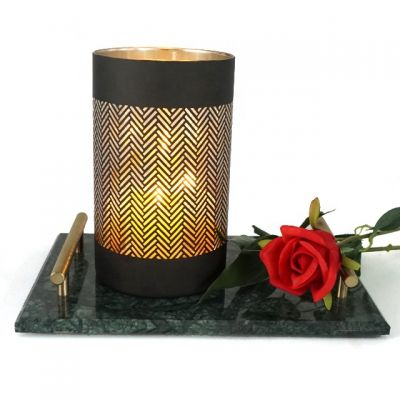 high quality matte black candle jar candle cup glass for Christmas