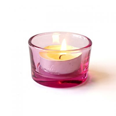 30ml pink empty cheap small glass candle making holder