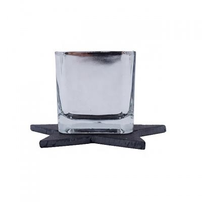 high quality square cube glass candle containers glass jars