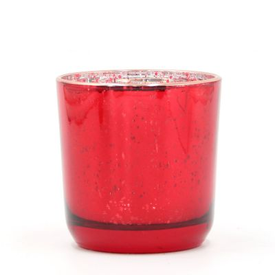 Red Colored Glass Candle Holder Votive Holder for Wholesale