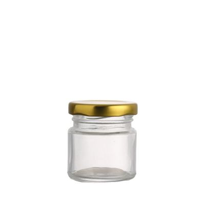 Factory direct cheap bird's nest storage transparent 100 ml glass jar with metal lid