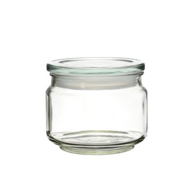 250ml unbreakable glass clear storage jars with silica gel mouth