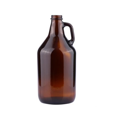 High quality good price big size 2 liter amber empty glass beer bottle with screw
