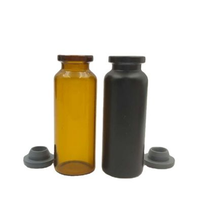 custom size and color tube-type 3ml amber glass liquid medicine bottles with cap