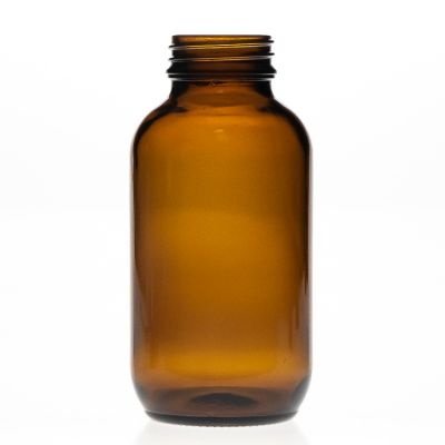 250ml 25cl Pharmaceutical Medicine Use Amber Wide Mouth Glass Bottle for Pill Drug
