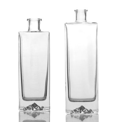 Manufacturer customized made size shape glass bottles for liquor whisky wine spirits gin rum cocktail