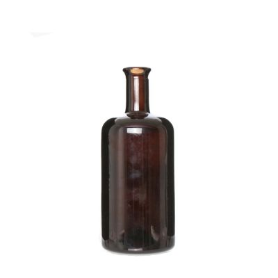 Premium quality factory produced Brown 750ml Spirit wine bottle Whiskey Glass Bottle