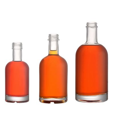 200ml 350ml 500ml 750ml clear round red glass wine bottles empty whisky glass bottle