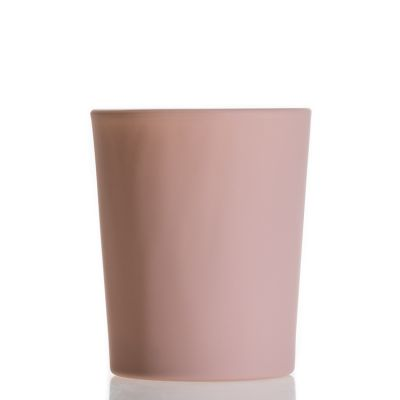 Wholesale Luxury Custom Decorative Empty Glass Candle Holder 90ml Matte Pink Candle jar