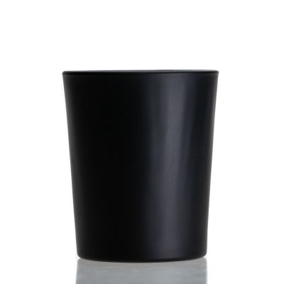 Wholesale Glass Candle Holders Matte Candle Jar With Lid For Candle Making
