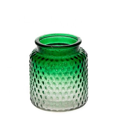 Wholesale Luxury Crystal Glass Round Green Candle Jar 350ml Empty Candle Container