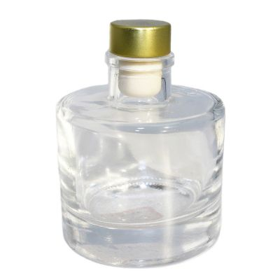 High quality custom hot selling good quality color mini glass bottles with cork lid for liquor