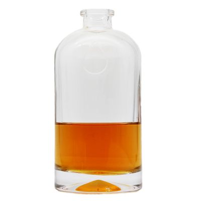 2021 cheap hot sale high quality glass gin vodka brandy bottles 500ml