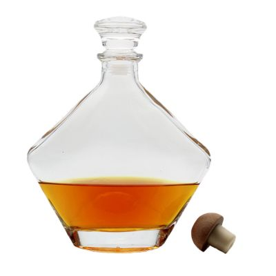 Custom durable using low price wine unique shape XO brandy bottles for whiskey
