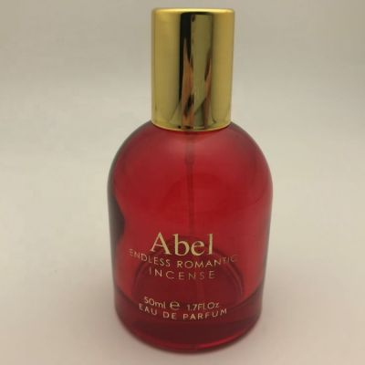 50ml round bottled deep red love lady perfume