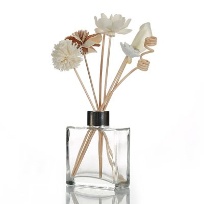New arrival 200ml rectangle shape thick bottom reed diffuser bottle with screw cap wholesale